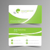 Simple green business card