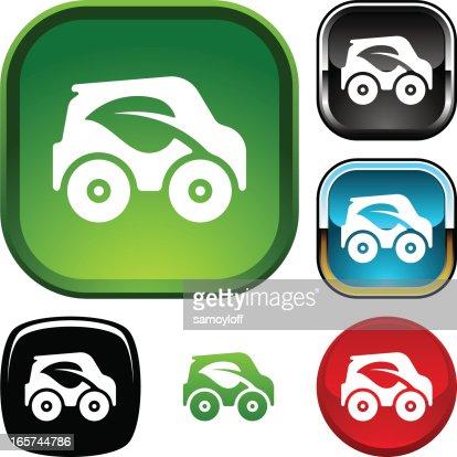 Green car icon : Vector Art