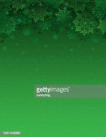 Green christmas background with snowflakes and stars, vector illustration : Vector Art