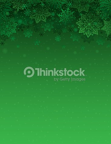 Green christmas background with snowflakes and stars, vector illustration : stock vector