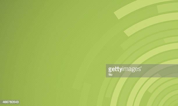 Green Circles Background