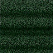 The green code made programming dark texture background