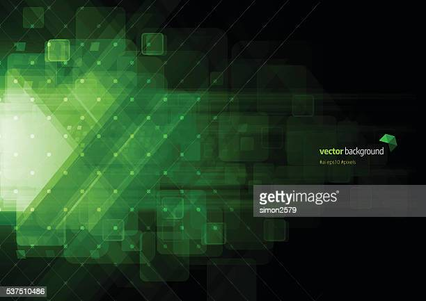 Green color technology abstract background