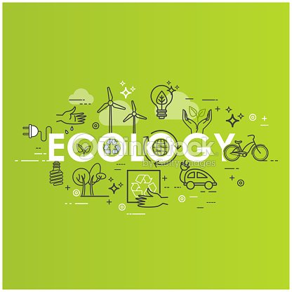 green energy ecology lifestyle recycle icons vector design template