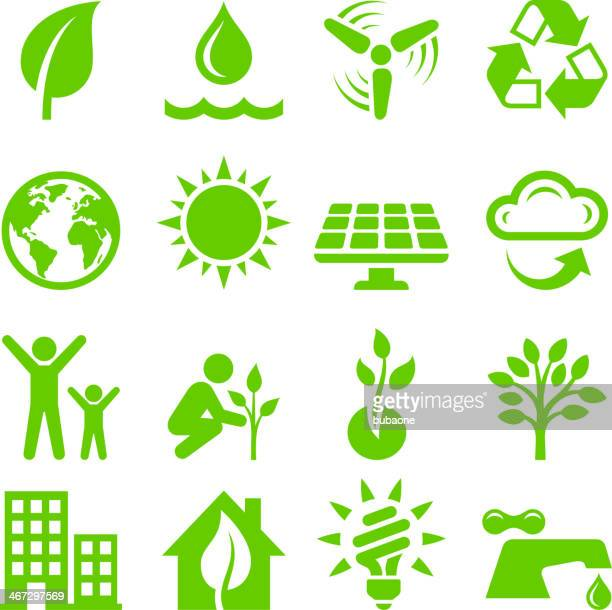 Green Energy royalty free vector interface icon set