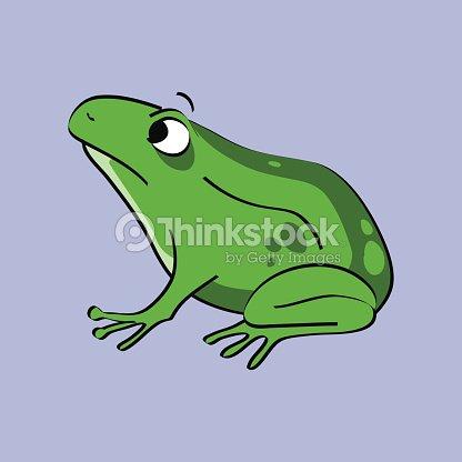 Grenouille verte amphibien dessin clipart vectoriel thinkstock - Dessin de grenouille verte ...