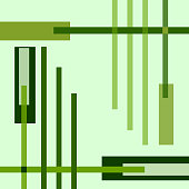 Green geometric vector background with bright cross strips. Abstract template for conceptual design. EPS10 illustration