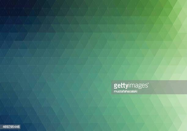 Green hexagon background with lines