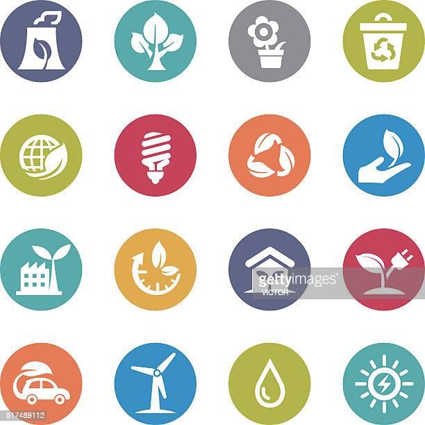 Green Icons - Circle Series