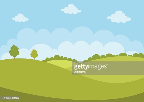 Green Landscape : Vector Art