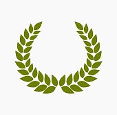 Green laurel wreath. Vector illustration