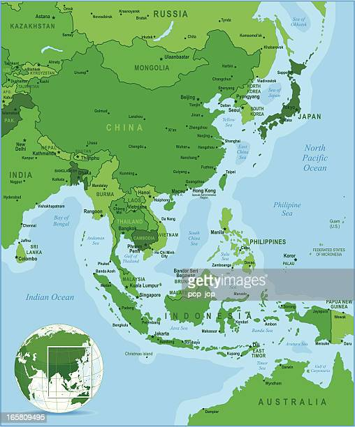 Grüne Karte der East Asia