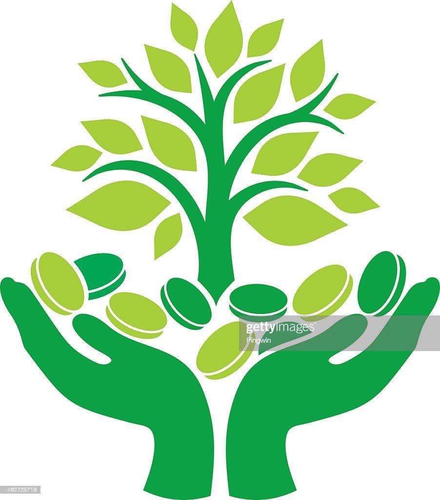 green money tree vector art thinkstock rh thinkstockphotos com Animated Money Clip Art People with Money Clip Art