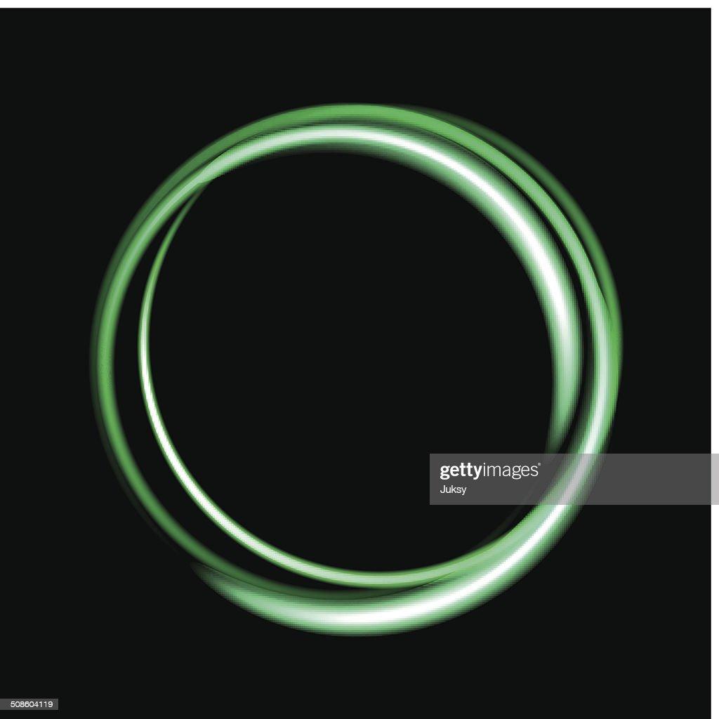 Fundo do círculo verde de néon. : Arte vetorial