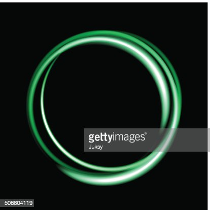 Green neon circle background. : Vector Art