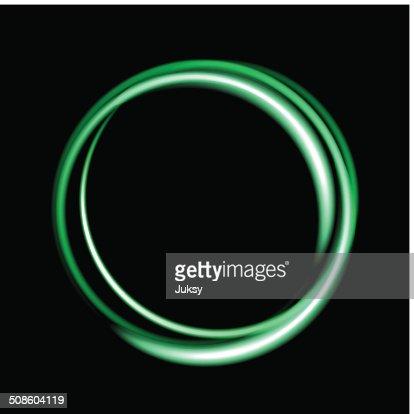 Círculo de fondo de neón verdes. : Arte vectorial