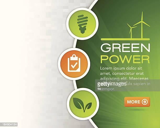 Green Power Design Background