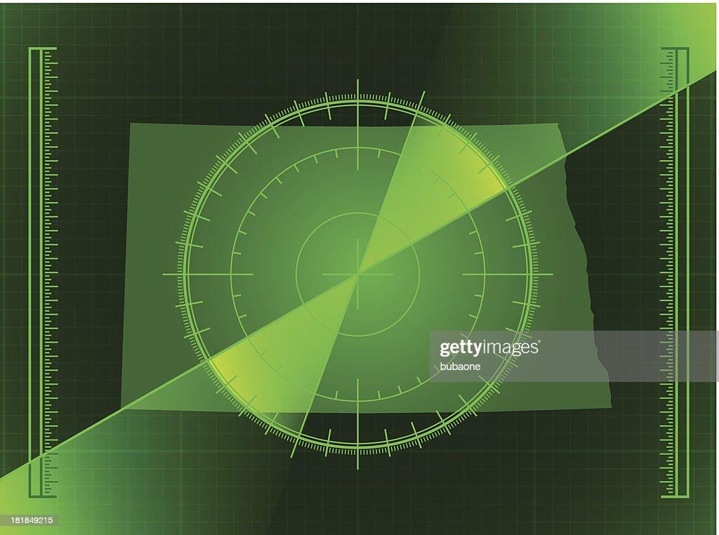 Green Radar Screen And North Dakota State Map Vector Art Getty - North dakota state map