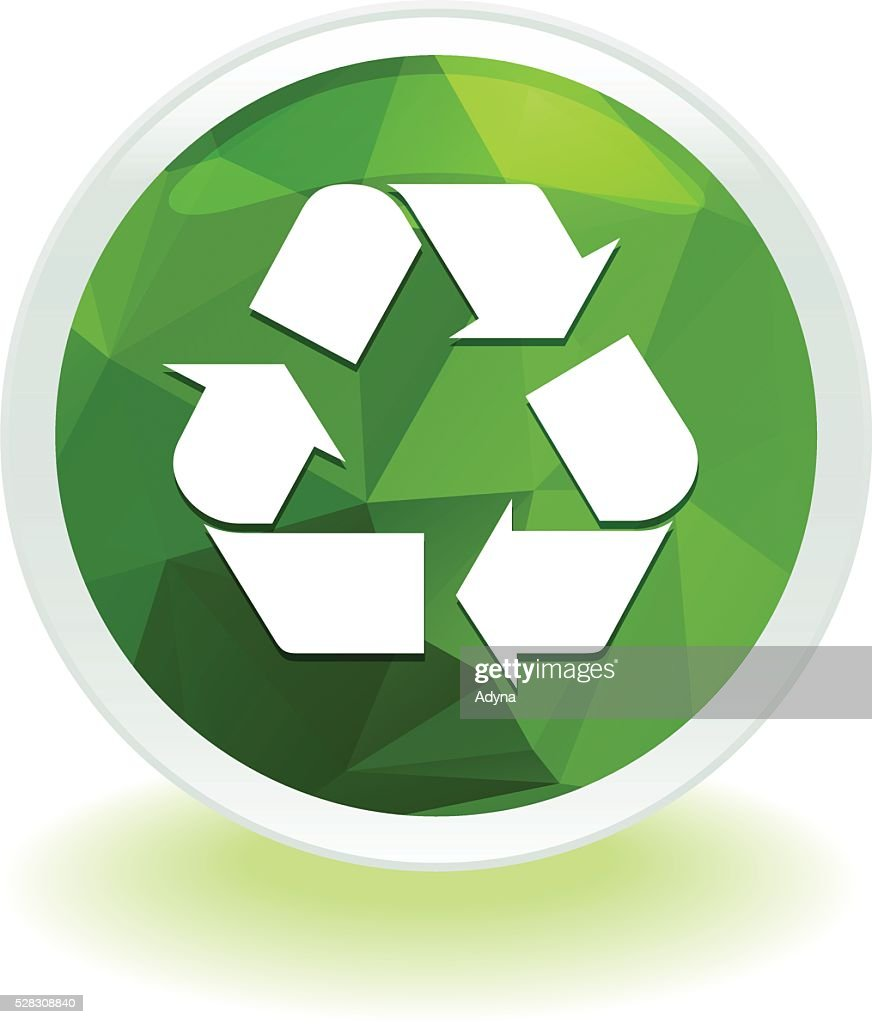 green recycle symbol vector art getty images