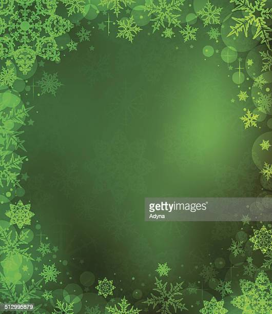 Green Snowflake Background