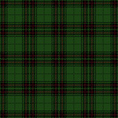 Green and black seamless traditional tartan plaid pattern design.