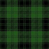 Green and black seamless traditional tartan plaid pattern design.