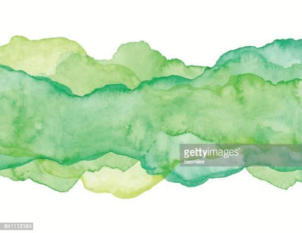 Gröna akvarell abstrakt