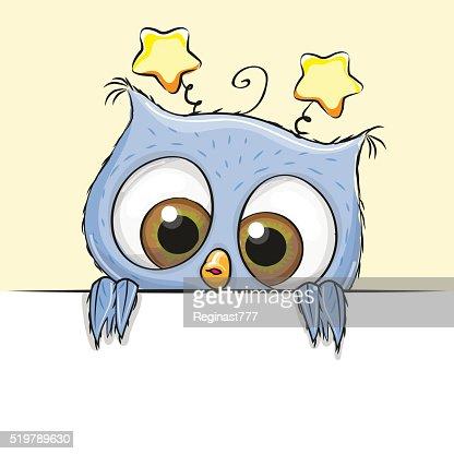 Greeting card cute Owl boy : Vector Art