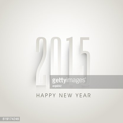 Greeting card design for Happy New Year celebrations. : Vector Art