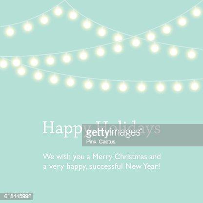 Greeting Card Design with Fairy Lights : Vektorgrafik