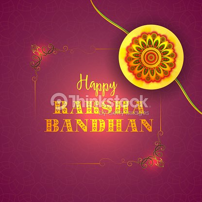 Greeting card with rakhi for raksha bandhan vector art thinkstock greeting card with rakhi for raksha bandhan vector art m4hsunfo