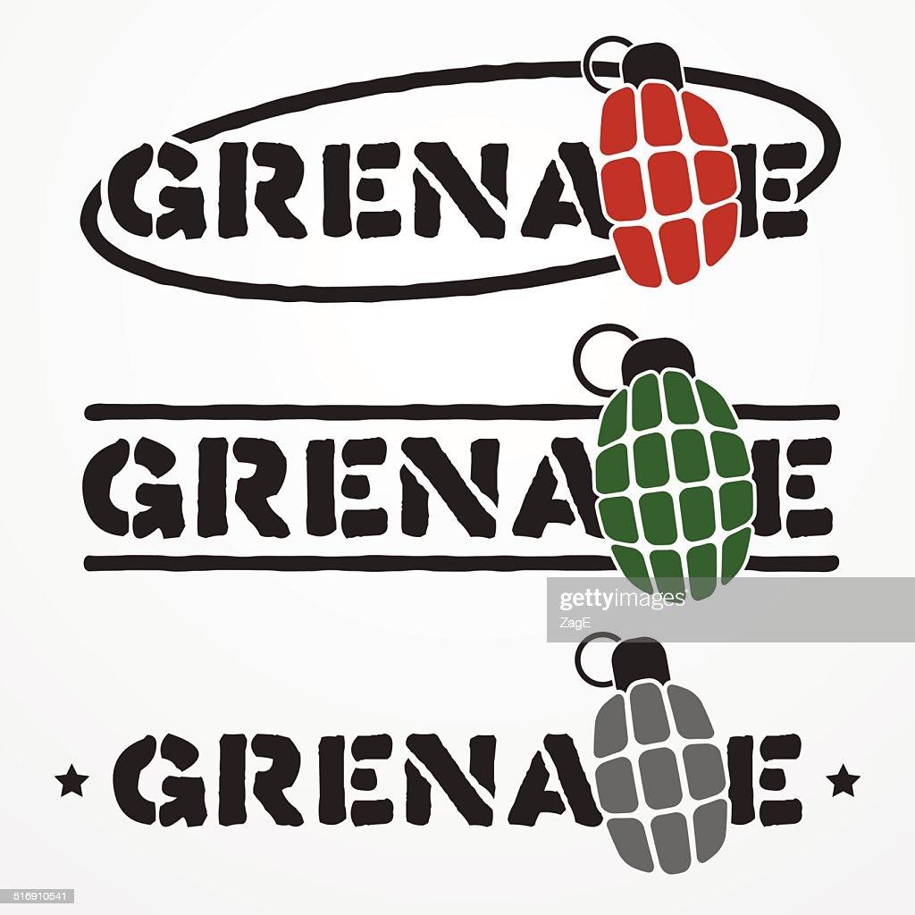grenade logo vector art thinkstock rh thinkstockphotos in