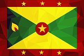 Grenadian national official flag. Patriotic symbol, banner, element, background. Accurate dimensions. Flag of Grenada in correct size and colors, vector illustration