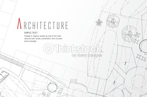 Grey Abstract Background Architectural Theme Working Drawings
