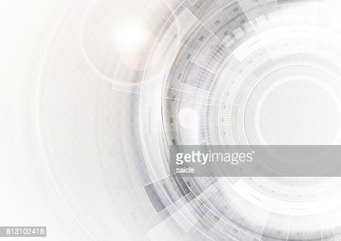 Grey and white futuristic technology abstract background : stock vector