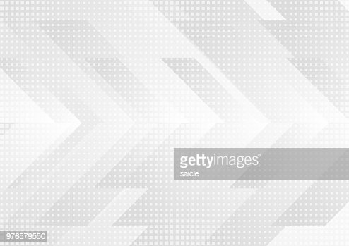 Grey and white tech arrows abstract background : stock vector