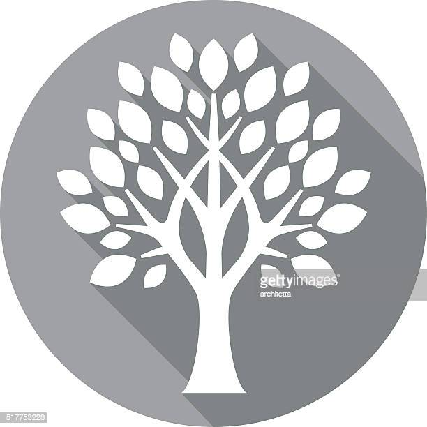 grey flat tree icon