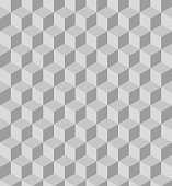 Grey polygon seamless pattern. Vector, illustration.