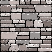 Grey stone wall background in cool tones. EPS10 vector format.