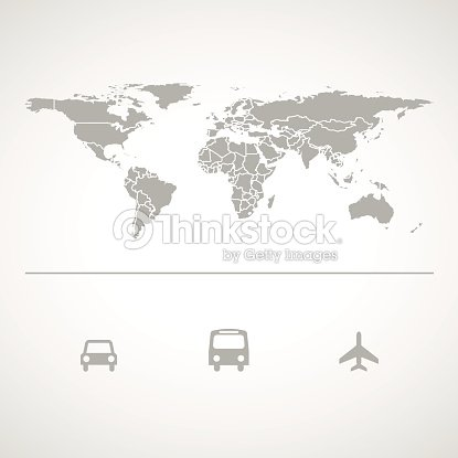 Grey world map icon great for any use vector eps10 vector art grey world map icon great for any use vector eps10 vector art gumiabroncs Images