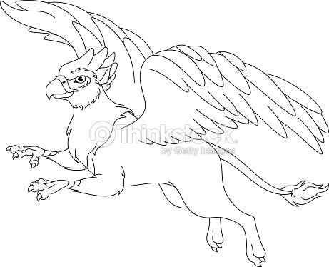 cute gryphon by jaclynonacloudlines coloring page