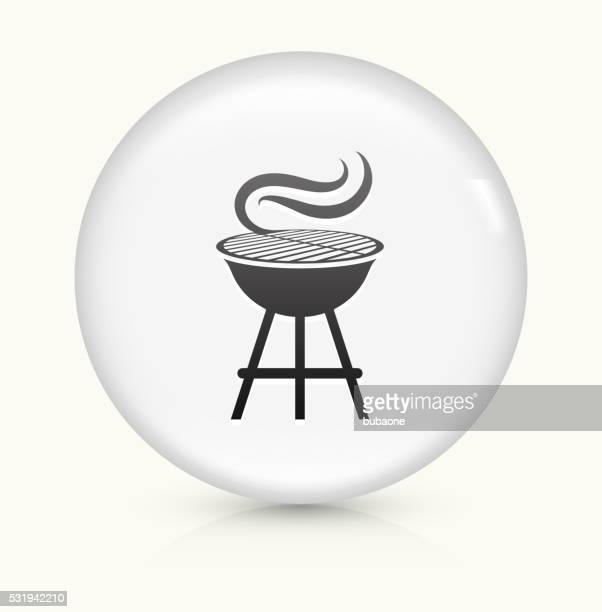 Grill icon on white round vector button