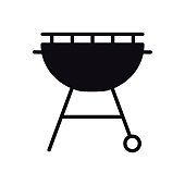 Grill Icon. Roaster BBQ. Charcoal Grill Sign and Symbol. Barbecue