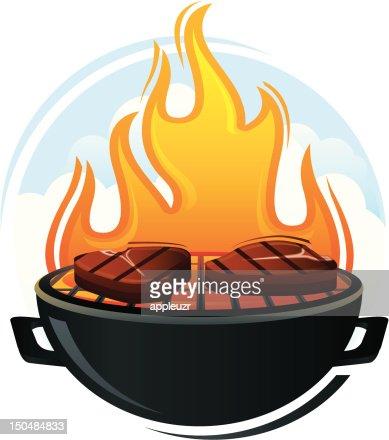 Bistecche alla griglia con : Vector Art