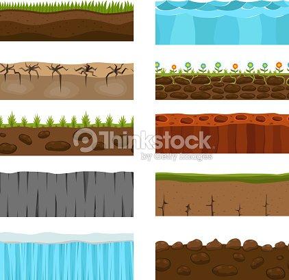 Ground slices vector set. : stock vector
