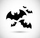 Group of bats VECTOR icon - flat illustration