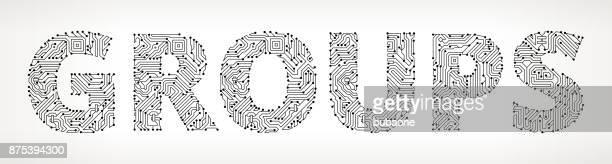 Botones de Vector de grupos de circuitos
