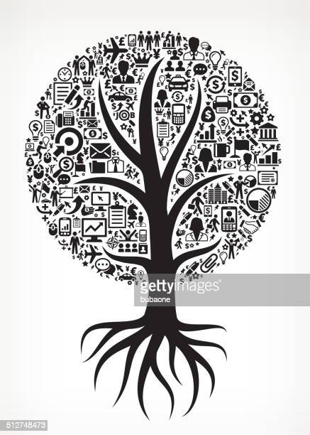 Growing Tree Business royalty free vector arts
