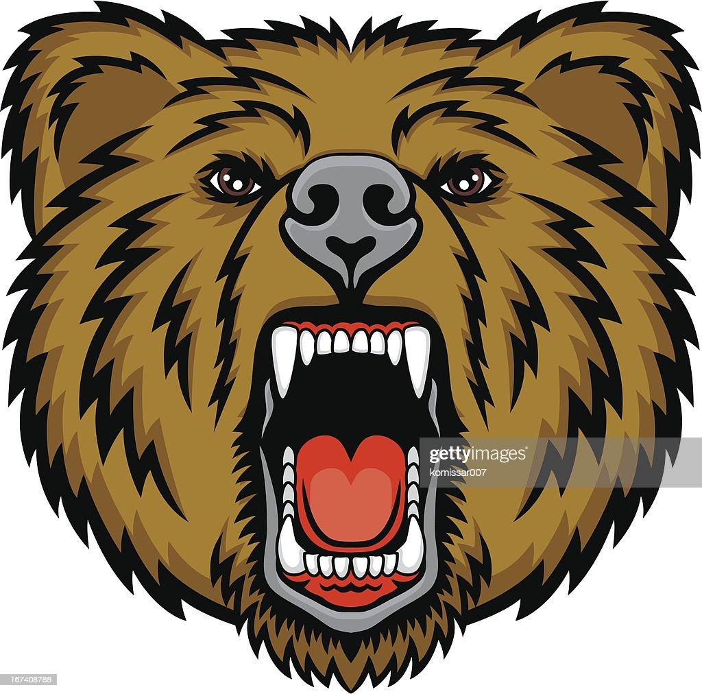 Growling bear : Vector Art