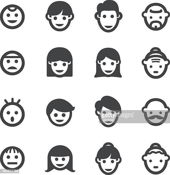 Wachstum, Generation und Gesicht Icon-Acme Series